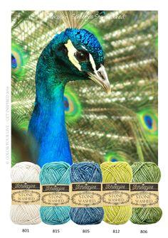 Peacock - Scheepjeswol Stone Washed is een garen, met een robuuste look. Met…