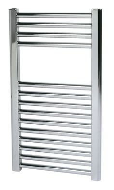 Kudox Flat Towel Warmer Chrome (H)700 (W)400mm | Departments | DIY at B&Q