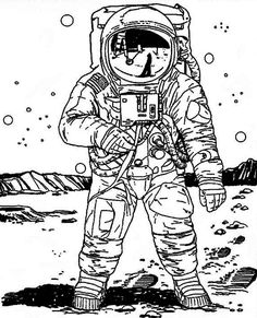 easy to draw astronauts - Google Search