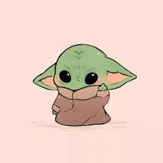 Baby Yoda Chibi Fan Art You are in the right place about christmas rustic Here we offer you the most beautiful pictures about the. Cute Cartoon Drawings, Cute Disney Drawings, Cute Kawaii Drawings, Cartoon Cartoon, Cute Baby Drawings, Star Wars Cartoon, Cute Cartoon Animals, Cartoon Wallpaper Iphone, Cute Disney Wallpaper