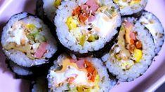 시어머님께 배운 한 입에 쏙쏙 오이 깍두기 무르지 않도록 맛있게 담그는 방법 K Food, Korean Food, Sushi, Ethnic Recipes, Korean Cuisine, Sushi Rolls