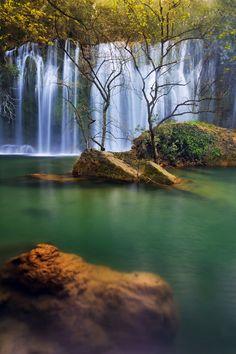 Under Water Fall by Baki Karacay. sheltered, magical place: Kursunlu waterfall in Antalya pin via @sunishsebastian