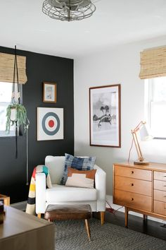 Remodelling of the boys room @ Housetweaking, the arm chair featuring furniture legs (Kurt) from Prettypegs! Girls Bedroom, Small Room Bedroom, Bedroom Wall, Bedroom Decor, Bedroom Ideas, Bedroom Storage, Small Rooms, Older Boys Bedrooms, Bedroom Inspo