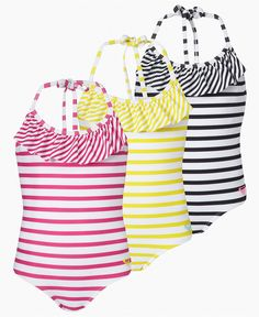 Cute toddler swimsuits..love the stripes