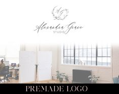 Premade Logo, Handwritten Style Classy Premade Logo for Photography Business, Elegant Type Logo with Floral Wreath in Black and White Photography Logos, Photography Business, Floral Wreath, Classy, Black And White, Type, Elegant, Shop, Etsy