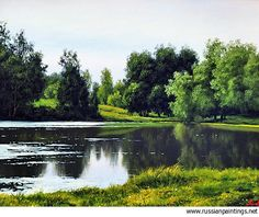 Russian Paintings Gallery - Adamow Alexis - 'Summer Landscape'