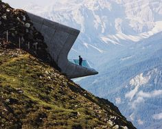 Messner Mountain Museum by Zaha Hadid Architects. Full story in the Uncrate app. Link in profile. by uncrate