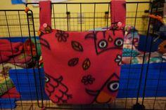 New to CreatedbyLauraB on Etsy: Hay bag Guinea pig hay bag guinea pig fleece hay holder fleece cage accessories hay holder food holder C&C cage (15.00 USD)