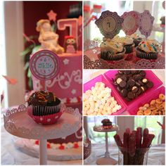American Girl Doll Birthday Party - mini oreos and mini-marshmallows for the dolls