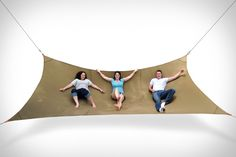 The Mega Hammock is made for sharing with friends, capable of comfortably holding as many as three people.