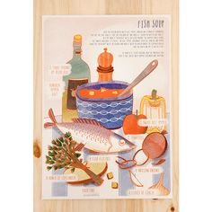 ILLUSTRATED RECIPE | FISH SOUP Bárbara Fonseca, also known as 'Veils and Mirrors', is a Portuguese illustrator who lives in Berlin, where, together with a friend, she runs the cool gallery Bootsbau. Her work is colorful and full of fantasy and humour.  lusamater.pt