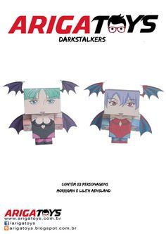Papercraft com duas personagens Darkstalkers. Vem com duas folhas para montagem!! Valor R$ 5,00