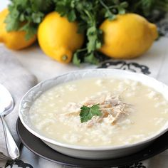 This Greek lemon chicken soup is simultaneously light & hearty