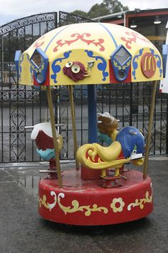 Mc Donald's rides..... I will never forget these