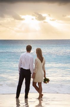 Sunset at Petite Anse for a beach wedding in paradise at Four Seasons Resort Seychelles #realweddings #luxbride #wedding