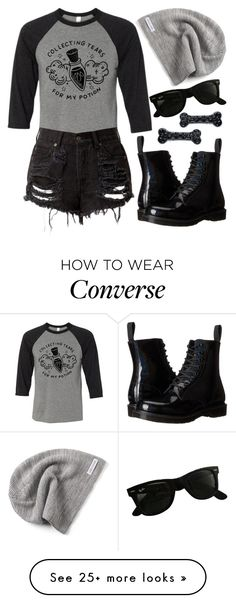 """Tees and Tank You"" by mrs-rc on Polyvore featuring Dr. Martens, Converse, Kreepsville 666, Ray-Ban and teesandtankyou"
