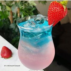 One look at The Puanani Cocktail and you will ask for more! The Puanani Cocktail is made with Rum, Schnapps, Lemonade, and Strawberries!