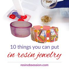 what can I put in resin jewelry Resin Jewelry Making, Jewelry Making Supplies, Resin Jewellery, Clear Casting Resin, Resin Art Supplies, Diy Resin Crafts, Art Crafts, How To Make Resin, Resin Tutorial