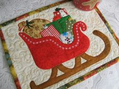 Patchwork Christmas Mug Rugs Christmas Quilt Patterns, Christmas Applique, Christmas Sewing, Christmas Crafts, Merry Christmas, Christmas Quilting, Xmas, Small Quilts, Mini Quilts