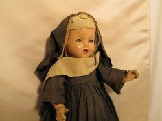 Vintage Nun Doll No5 by CorvidaeCuriosity on Etsy, $87.00