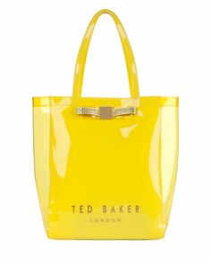 Large bow shopper - Yellow | Bags | Ted Baker