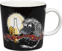 Ancestor Moomin mug from Arabia by Tove Jansson, Tove Slotte Moomin House, Moomin Shop, Moomin Mugs, Porcelain Black, Porcelain Ceramics, Helsinki, Moomin Cartoon, Troll, Haku
