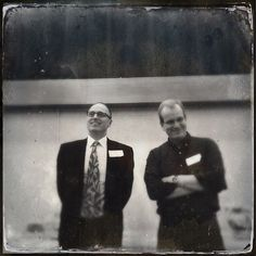 Ted Gregory and Dave McKinney #tintype #hipstamatic #eiuden #centennial
