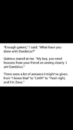 """""""Yeah right, and I'm Zeus"""" someone's got his PERSASSY ON!"""