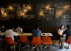 Hatched, a casual restaurant in Singapore that serves breakfast all-day interiors by Outofstock