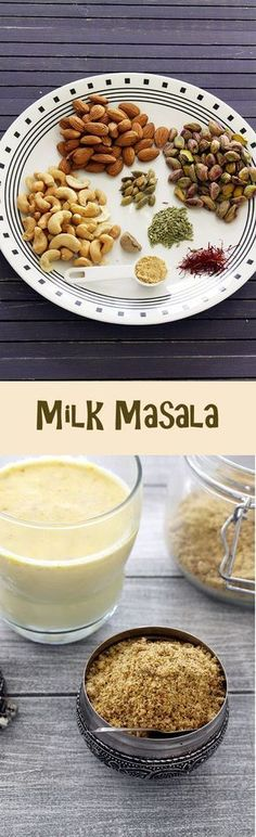 Milk masala powder recipe – This is added in a glass of milkshakes along with sugar to make masala doodh or masala milk. Baby Food Recipes, Indian Food Recipes, Dessert Recipes, Cooking Recipes, Diet Recipes, Cooking Tips, Masala Powder Recipe, Masala Recipe, Tandoori Masala