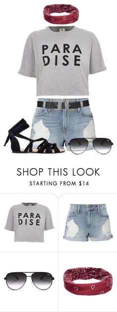 """""""Paradise"""" by maxine128 ❤ liked on Polyvore featuring River Island, Frame, Quay, Mudd and Topshop"""