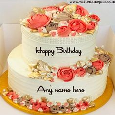 Are you want to make special things on your BFFs Birthday Then you can create Happy Birthday wishes Cake with Name for making their Birthday Special. Birthday Cake Write Name, Birthday Cake Writing, Happy Birthday Wishes Cake, Birthday Cake With Photo, Birthday Cake With Flowers, Cake Name, Birthday Greetings Images, Birthday Greeting Cards, Greeting Card Maker