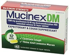 Amazon.com: Mucinex DM Maximum Strength 12-Hour Expectorant and Cough Suppressant Tablets, 42 Count: Health & Personal Care
