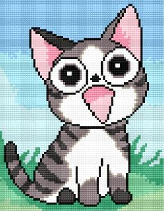 A sweet cat (animal, cat, mause, game, for children, meadow)