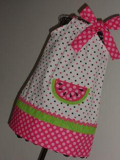 Adorable, Watermelon  Pillowcase Dress
