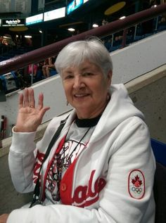 Grandma at a Storm game Storm Games, Hockey Teams, Four Square, Centre, Coat, Jackets, Fashion, Down Jackets, Moda