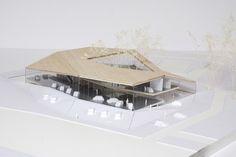 Nissan is part of architecture - Autokeskus Riias 2008 Folding Architecture, Architecture Model Making, Public Architecture, Architecture Concept Drawings, Architecture Visualization, Interior Architecture, Architecture Portfolio, Pavillion Design, Architectural Section