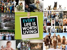"Pin – It Photomontage Level I Entry. Respect Life ""Every Life is Worth Living"". All entries are property of Respect Life Diocese of Rockville Centre Office © 2016"