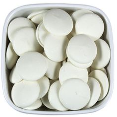 Super White Candy Melts - Merckens 1LB from Layer Cake Shop!  Bright white melts for chocolate molding, dipping cake pops, pretzels, cookies, strawberries, truffles, etc.