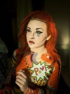 roy lichtenstein-inspired. this would be such a great halloween costume!