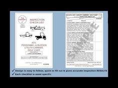 """ATV, Personnel Burden Utility Carrier, Golf Cart Inspection Checklist #2-019 The Checker"" Embedded image permalink https://www.youtube.com/watch?v=Kr7zn3rDqDM&list=UUFOXQFpRcuX3e0w6qsrmvkQ&index=29"