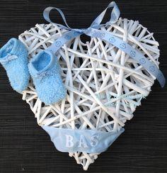 Voorbeeld kraamcadeau: hart voor aan de deur