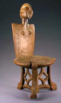 Africa | chair from the Luguru people of Tanzania | Wood | Early 20th century