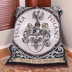 """Polska Poland """"Proud To Be Polish"""" Tapestry Throw"""