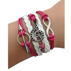 Hot Pink Music Forever Arm Party Bracelet
