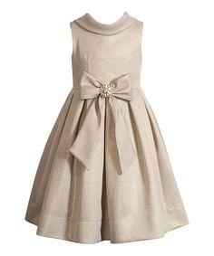 Look at this #zulilyfind! Champagne Jackie Dress - Girls #zulilyfinds