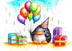 Birthday Penguin 2 | B-Keks Penguins