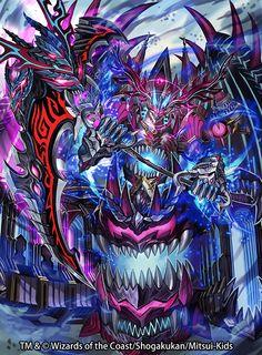Dar Fortress-Duel Masters artwork Fantasy Demon, Fantasy Beasts, Fantasy Monster, Fantasy Weapons, Monster Art, Dark Fantasy Art, Anime Monsters, Cool Monsters, Fantasy Creatures