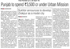 """Shiromani Akali Dal through its """"Urban Mission"""" is turning dreams into reality. We have already seen the amazing infrastructural development in Punjab under the leadership of S.Parkash Singh Badal. The day is not far when Punjab will be counted amongst the most developed states not just nationally but internationally."""