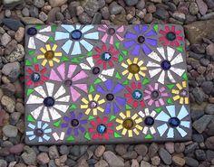 Mirror Mosaic Stepping Stone by GardenDivaDeb, via Flickr